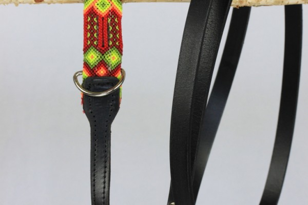 Weave Handle Black Leash
