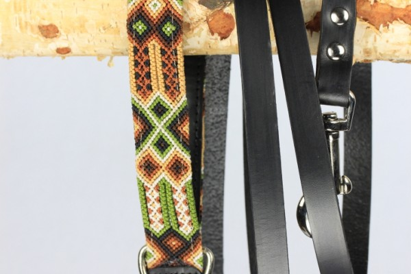 Weave Handle Otomi Leash