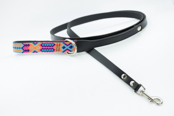 Weave Handle Coral Leash